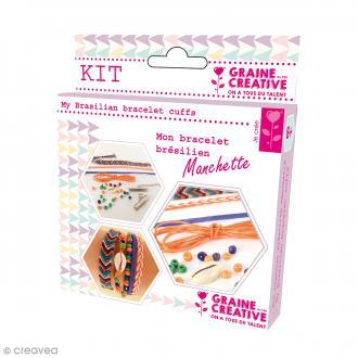 Kit Création de bracelet brésilien manchette - Tropiques