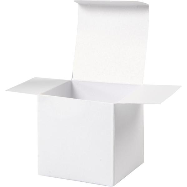 Boîtes Pliantes en carton - Blanc - 5,5 x 5,5 cm - 10 pcs - Photo n°3