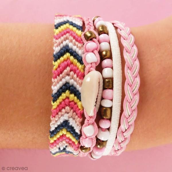 Kit Création de bracelet brésilien manchette - Amour - Photo n°2