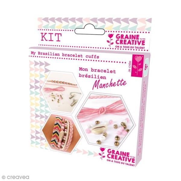 Kit Création de bracelet brésilien manchette - Amour - Photo n°1