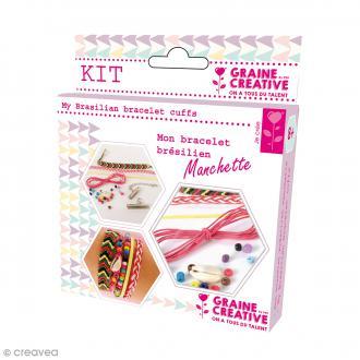 Kit Création de bracelet brésilien manchette - Rainbow