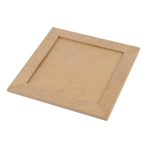 Cadre en bois 3 mm à décorer - 11 x 11 cm - Photo n°1