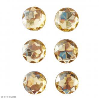 Mini magnets strass diamants - Cuivré - 17 mm - 6 pcs