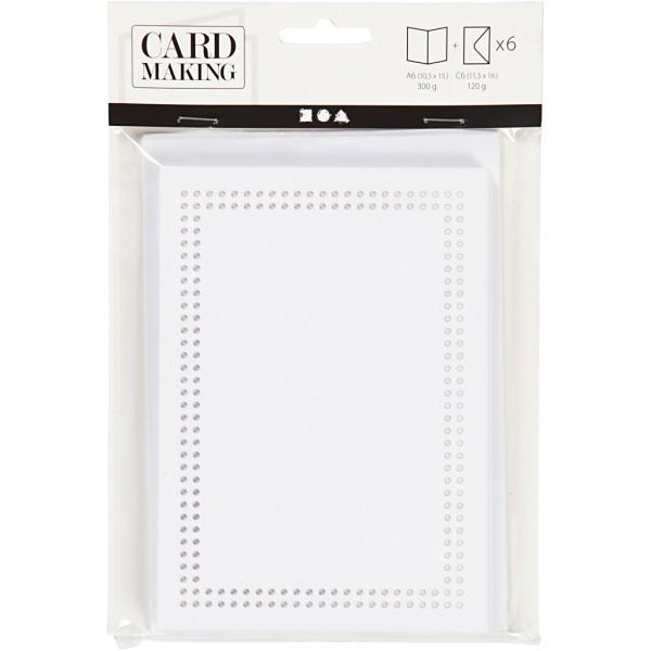 Cartes à broder avec enveloppes - 10,5 x 15 cm - 6 pcs - Photo n°2