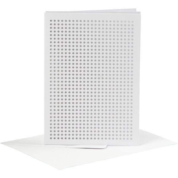 Cartes à broder avec enveloppes - 10,5 x 15 cm - 6 pcs - Photo n°1