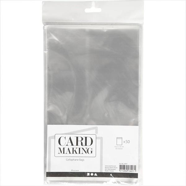 Sachets transparents plats à fermeture autocollante - 13,7 x 19 cm - 50 pcs - Photo n°1