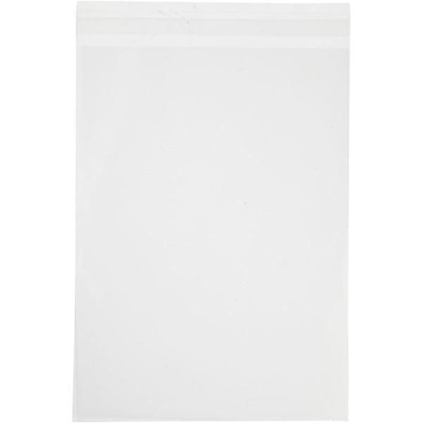Sachets transparents plats à fermeture autocollante - 16,8 x 23 cm - 50 pcs - Photo n°1