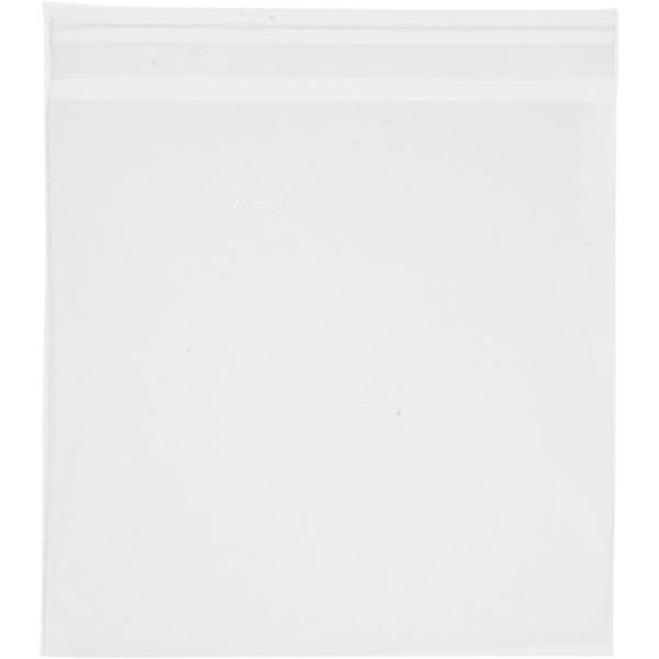 Sachets transparents plats à fermeture autocollante - 15,5 x 16 cm - 50 pcs - Photo n°1