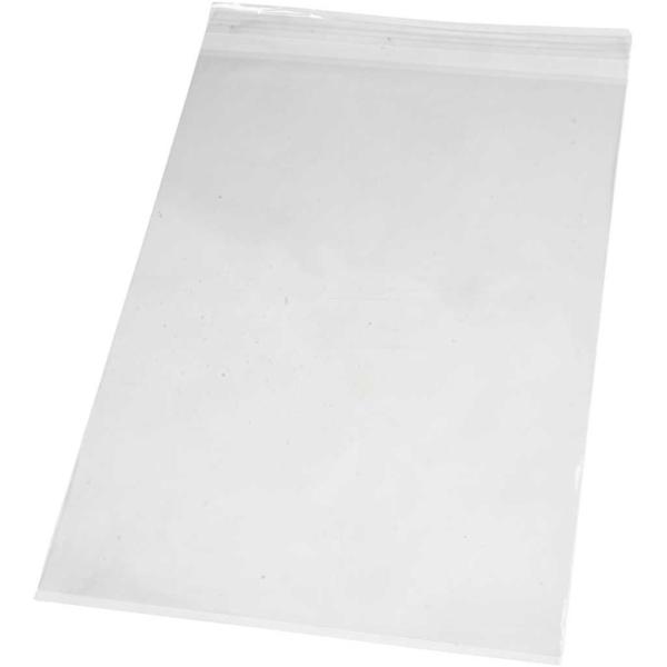 Sachets transparents plats à fermeture autocollante - 22,5 x 31,2 cm - 20 pcs - Photo n°1