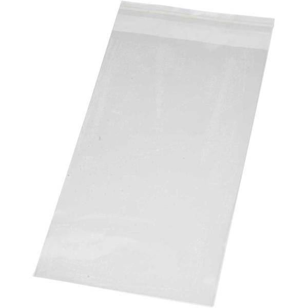 Sachets transparents plats à fermeture autocollante - 12 x 22 cm - 200 pcs - Photo n°1