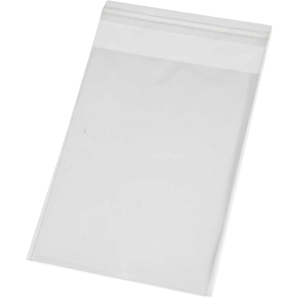Sachets transparents plats à fermeture autocollante - 9,7 x 12,9 cm - 20 pcs - Photo n°1