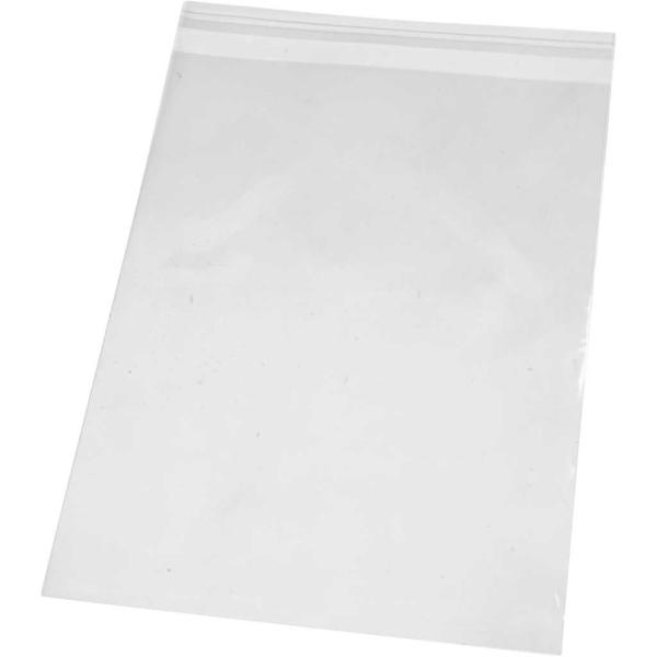 Sachets transparents plats à fermeture autocollante - 18 x 25,3 cm - 20 pcs - Photo n°1