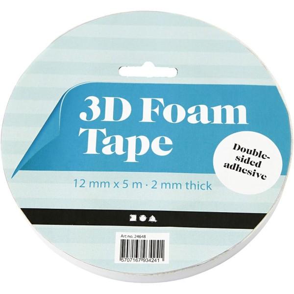Mousse adhésive 3D double face - 12 mm - 5 m - Photo n°2