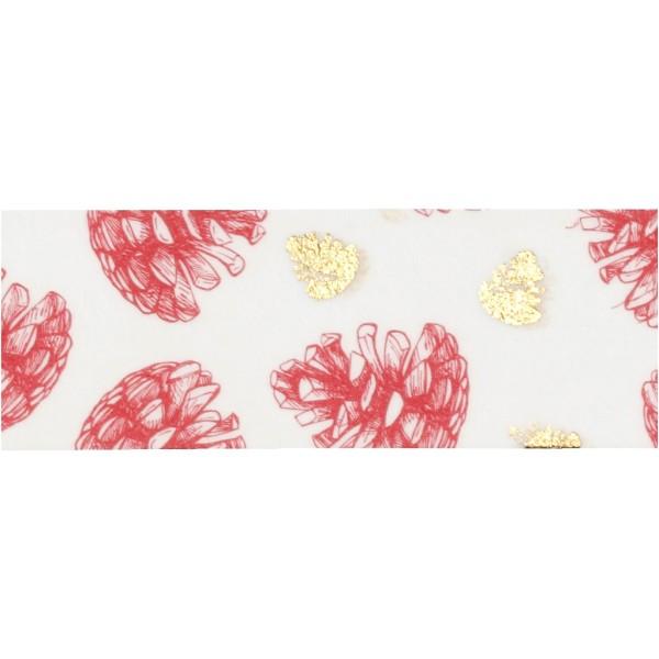 Set de masking tape - Pommes de pin et pois - 1,5 cm x 4 m - 2 pcs - Photo n°3