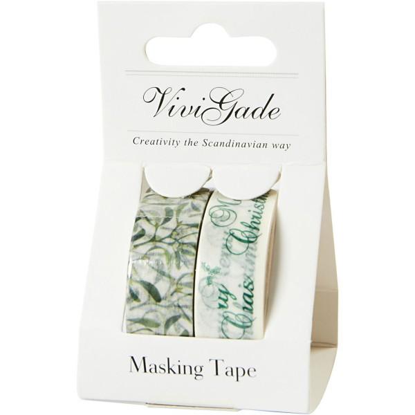Set de masking tape - Gui et Merry Christmas - 1,5 cm x 5 m - 2 pcs - Photo n°2