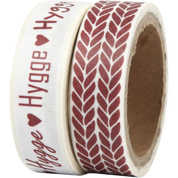 Set de masking tape - Tricot et Hygge - 1,5 cm x 5 m - 2 pcs - Photo n°1