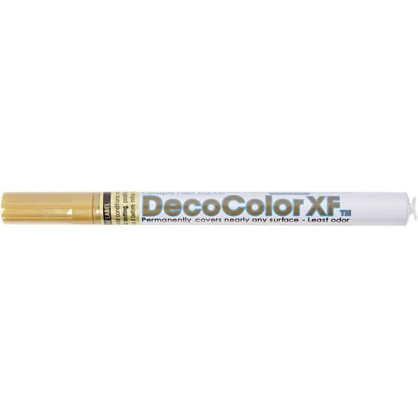 Marqueur peinture Deco Color XF - Doré - 0,8 mm - 1 pce - Photo n°2