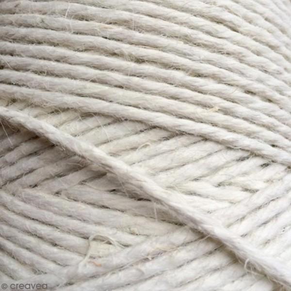 Fil de jute en bobine - 4 plis - Blanc - 3,5 mm - 50 m - Photo n°4