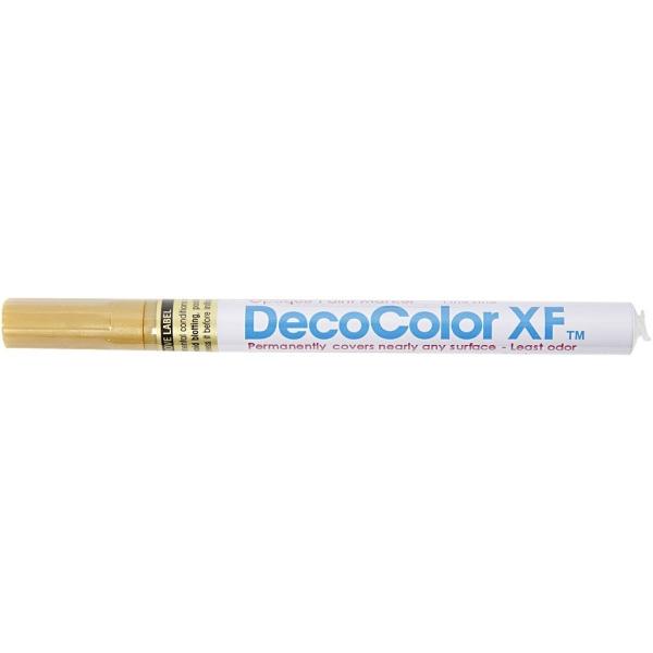 Marqueur peinture Deco Color XF - Doré - 1,2 mm - 1 pce - Photo n°2