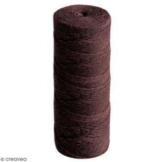 Fil de jute en bobine - 4 plis - Marron foncé - 3,5 mm - 50 m