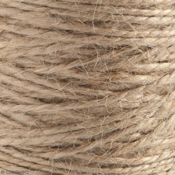 Fil de jute en bobine - 4 plis - Naturel - 3,5 mm - 50 m - Photo n°4