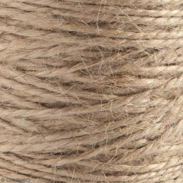 Fil de jute en bobine - 4 plis - Naturel - 3,5 mm - 280 m - Photo n°4