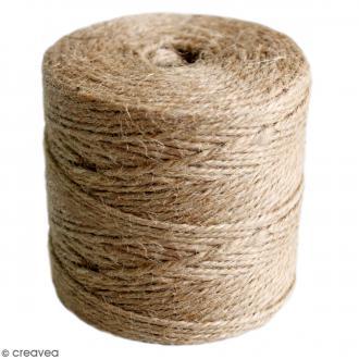Fil de jute en bobine - 4 plis - Naturel - 3,5 mm - 280 m
