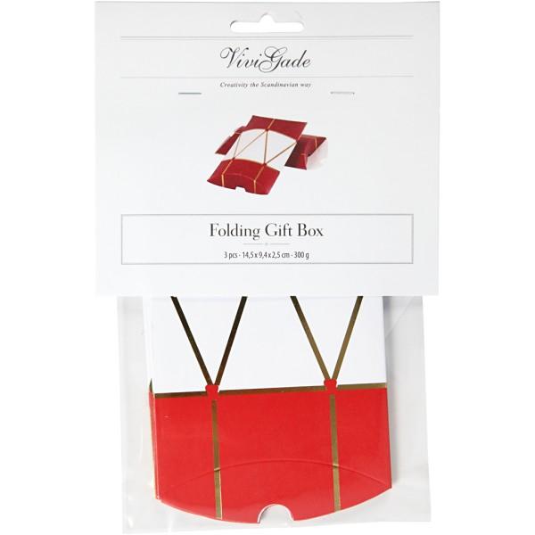 Pochettes cadeaux Tambour - 14,9 x 9,4 x 2,5 cm - 3 pcs - Photo n°2