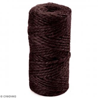 Fil de jute en bobine - 6 plis - Marron foncé - 6 mm - 35 m