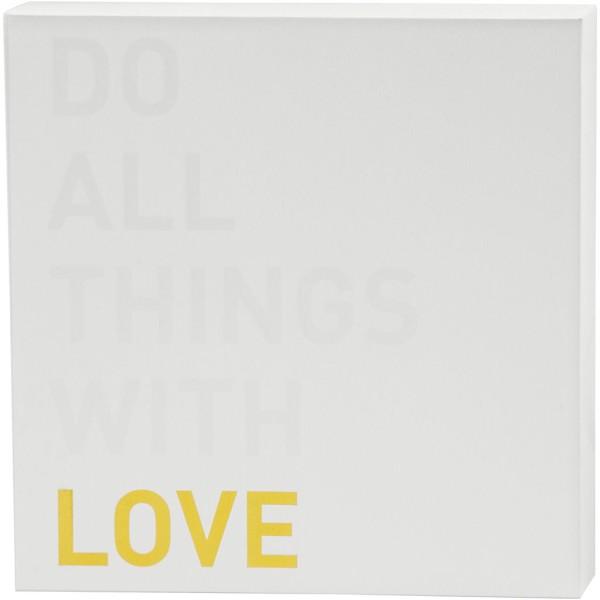 Toile imprimée pour aquarelle - Motif doré et vernis blanc - 25,4 x 25,4 cm - Photo n°1