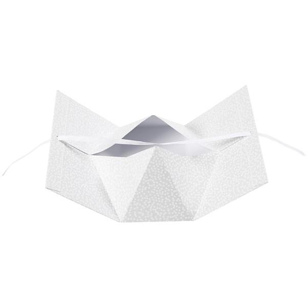 Boite cadeau - Gris et pois blancs - 15 x 8 x 7 cm - 3 pcs - Photo n°3
