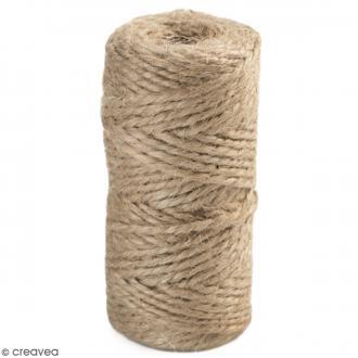 Fil de jute en bobine - 6 plis - Naturel - 6 mm - 35 m
