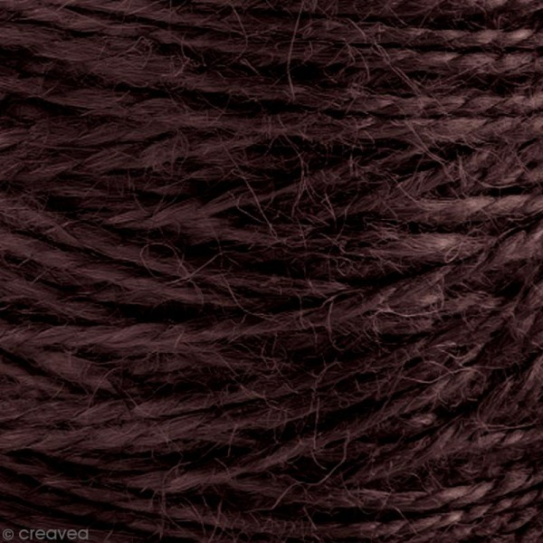 Fil de jute en bobine - 6 plis - Marron foncé - 6 mm - 120 m - Photo n°4