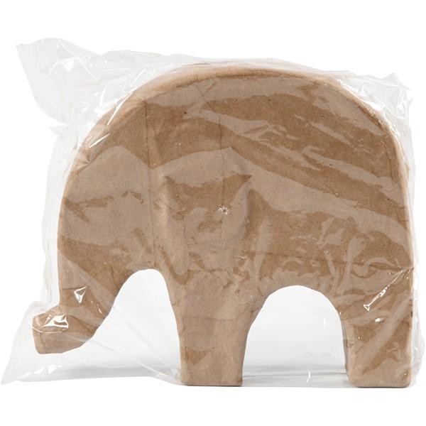 Éléphant en papier mâché à décorer - 24 cm x 21 cm - Photo n°2