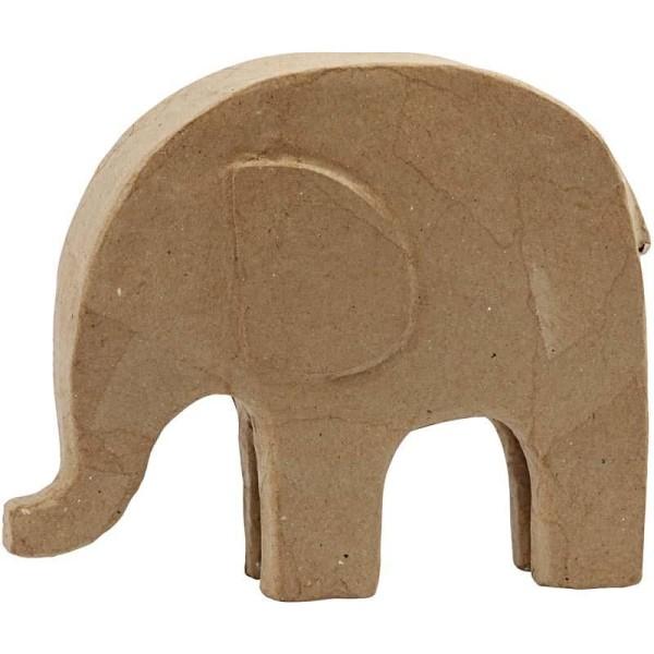 Éléphant en papier mâché à décorer - 24 cm x 21 cm - Photo n°1