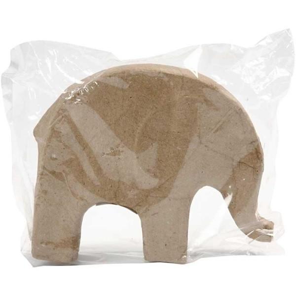 Éléphant en papier mâché à décorer - 14 cm x 17 cm - Photo n°2