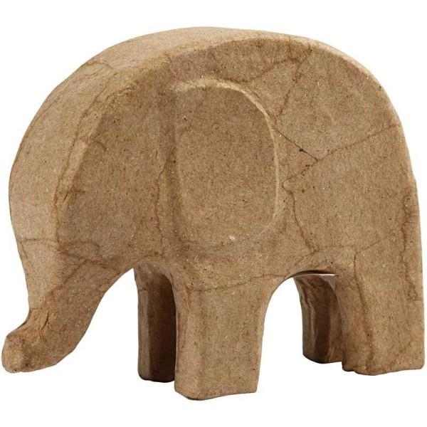 Éléphant en papier mâché à décorer - 14 cm x 17 cm - Photo n°1
