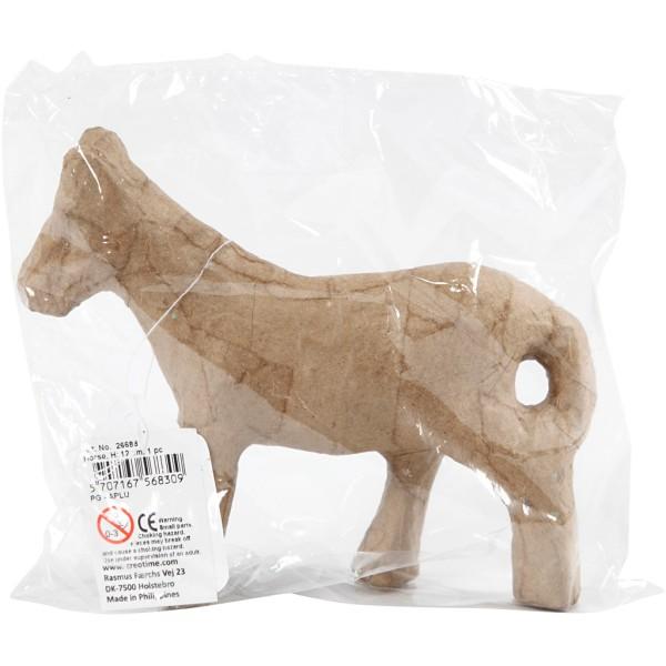 Cheval en papier mâché à décorer - 12 cm - Photo n°2
