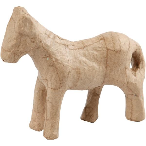 Cheval en papier mâché à décorer - 12 cm - Photo n°1