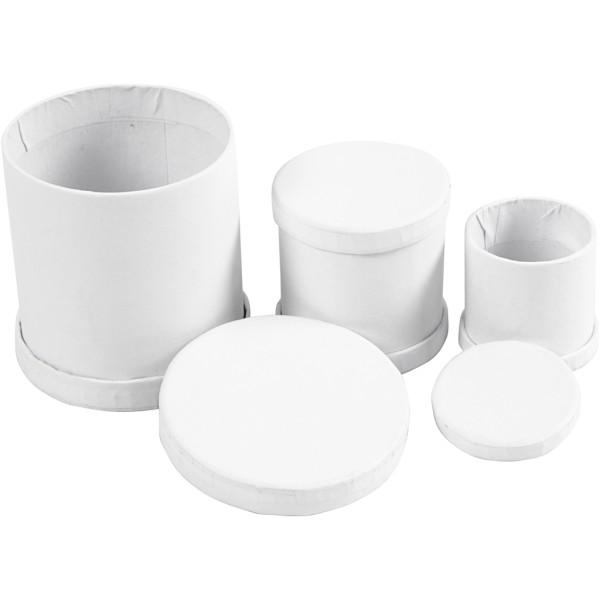 Assortiment de boîtes Tambours - Blanc - 4 à 6,5 cm - 3 pcs - Photo n°3