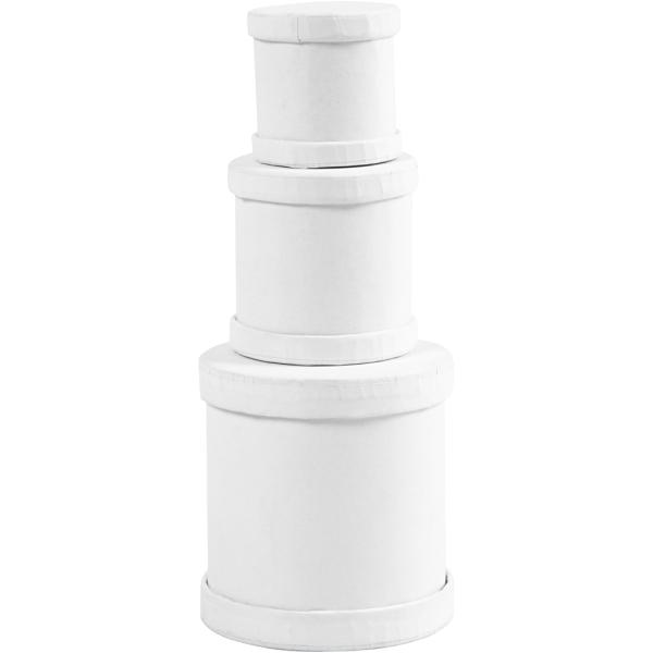 Assortiment de boîtes Tambours - Blanc - 4 à 6,5 cm - 3 pcs - Photo n°1