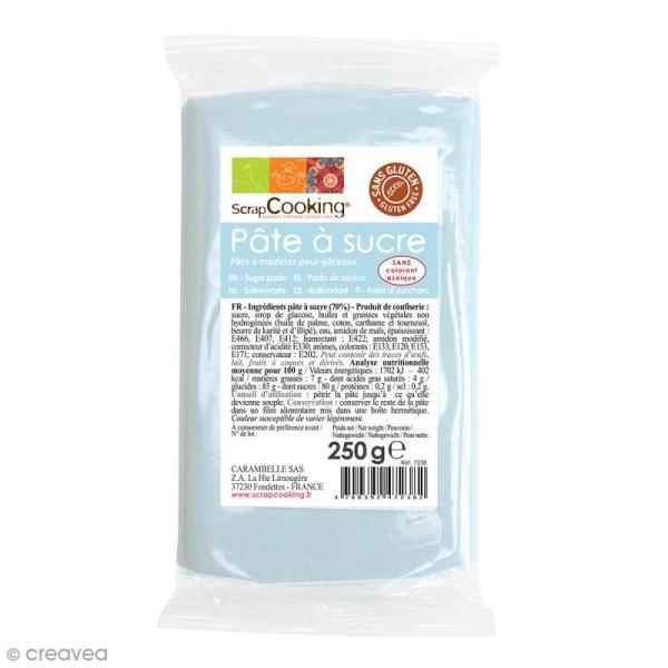 Pâte à sucre Bleu pastel - 250 g - Photo n°1