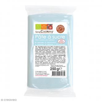 Pâte à sucre Bleu pastel - 250 g