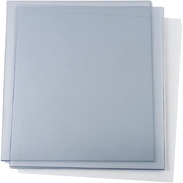 Feuille de plastique épais A4 - Transparent - 5 pcs - Photo n°1