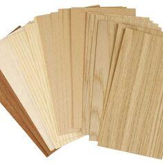 Assortiment d'assiettes en bois - 12 x 22 cm - 30 pièces