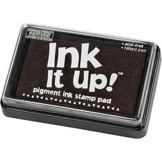 Tampon encreur noir pour textile - 6,3 x 9,5 cm