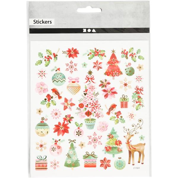 Stickers pailletés - Noël romantique - 43 pcs - Photo n°2