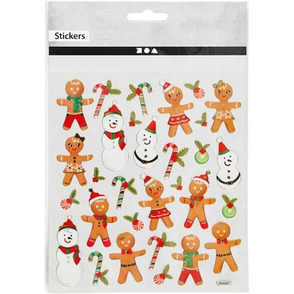 Stickers pailletés - Personnages de Noël - 30 pcs - Photo n°2