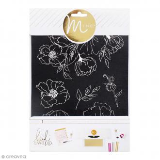 Ecran de sérigraphie Minc - Fleurs - 21,5 x 16,5 cm