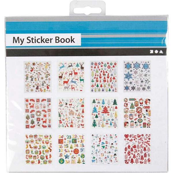 Carnet de stickers pailletés - Noël - 584 pcs - Photo n°2